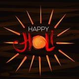 Ευτυχής εορτασμός Holi Χειρόγραφη εγγραφή για το ετήσιο ινδικό φεστιβάλ των χρωμάτων Holi Στοκ φωτογραφία με δικαίωμα ελεύθερης χρήσης