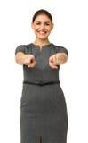 Ευτυχής επιχειρηματίας που δείχνει σε σας Στοκ εικόνα με δικαίωμα ελεύθερης χρήσης