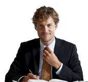 Ευτυχής επιχειρηματίας Στοκ Εικόνες