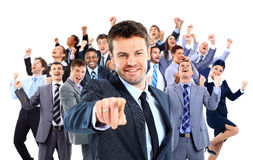 Ευτυχής επιχειρηματική μονάδα στοκ εικόνα
