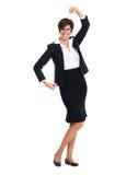 Ευτυχής επιχειρησιακή γυναίκα με το σύντομο hairstyle Στοκ Φωτογραφία