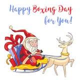 Ευτυχής επόμενη μέρα των Χριστουγέννων για σας έμβλημα έννοιας, ύφος κινούμενων σχεδίων απεικόνιση αποθεμάτων