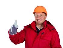 Ευτυχής εργαζόμενος Στοκ Εικόνα