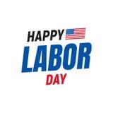ευτυχής εργασία ημέρας Λογότυπο τυπογραφίας για την ΑΜΕΡΙΚΑΝΙΚΗ Εργατική Ημέρα Ευτυχής Εργατική Ημέρα ΗΠΑ 4η του Σεπτεμβρίου Στοκ φωτογραφία με δικαίωμα ελεύθερης χρήσης
