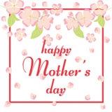 Ευτυχής ευχετήρια κάρτα ημέρας μητέρων ` s Στοκ Εικόνες