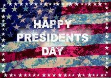 Ευτυχής ευχετήρια κάρτα ημέρας Προέδρου Στοκ εικόνες με δικαίωμα ελεύθερης χρήσης
