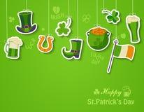 Ευτυχής ευχετήρια κάρτα ημέρας του ST Patricks Στοκ Φωτογραφία