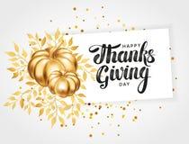 Ευτυχής ευχετήρια κάρτα ημέρας των ευχαριστιών Στοκ εικόνα με δικαίωμα ελεύθερης χρήσης