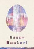 Ευτυχής ευχετήρια κάρτα Πάσχας εικόνα αυγών Πάσχας που γίνεται Συγχαρητήρια με Πάσχα Στοκ Εικόνες