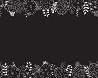 Ευτυχής ευχετήρια κάρτα Πάσχας Ο συρμένος χέρι Μαύρος σύνθεσης αυγών Πάσχας στο υπόβαθρο απεικόνιση αποθεμάτων