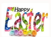 Ευτυχής ευχετήρια κάρτα Πάσχας στοκ φωτογραφίες με δικαίωμα ελεύθερης χρήσης