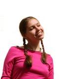 ευτυχής εφηβικός κοριτ&si Στοκ Εικόνες
