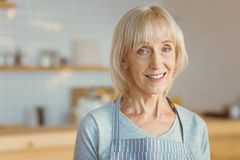 Ευτυχής εύθυμη γυναίκα που εξετάζει σας Στοκ Εικόνες