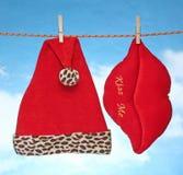 Ευτυχής εύθυμη Χ διακόσμηση Χριστουγέννων MAS κρεμώντας Στοκ Εικόνες