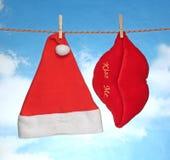 Ευτυχής εύθυμη Χ διακόσμηση Χριστουγέννων MAS κρεμώντας Στοκ φωτογραφίες με δικαίωμα ελεύθερης χρήσης