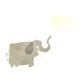 ευτυχής ελέφαντας κινούμενων σχεδίων με τη λεκτική φυσαλίδα Στοκ φωτογραφίες με δικαίωμα ελεύθερης χρήσης