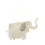 ευτυχής ελέφαντας κινούμενων σχεδίων με τη σκεπτόμενη φυσαλίδα Στοκ Φωτογραφία