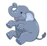 Ευτυχής ελέφαντας Στοκ Εικόνες