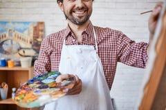 ευτυχής ζωγράφος Στοκ εικόνα με δικαίωμα ελεύθερης χρήσης