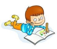 Ευτυχής ζωγραφική μικρών παιδιών Στοκ φωτογραφίες με δικαίωμα ελεύθερης χρήσης