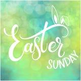Ευτυχής ζωηρόχρωμη εγγραφή της Κυριακής Πάσχας