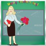 Ευτυχής ημέρα δασκάλων καθολικός Ιστός προτύπων σελίδων χαιρετισμού καρτών ανασκόπησης απεικόνιση Στοκ εικόνα με δικαίωμα ελεύθερης χρήσης
