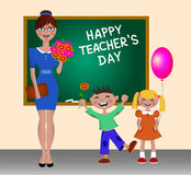 Ευτυχής ημέρα δασκάλων Στοκ Εικόνες