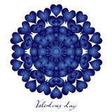 Ευτυχής ημέρα βαλεντίνων, διανυσματική κάρτα στοκ εικόνα