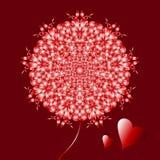 Ευτυχής ημέρα βαλεντίνων, διανυσματική κάρτα διανυσματική απεικόνιση