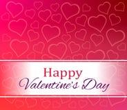 Ευτυχής ημέρα βαλεντίνων καρδιών αγάπης Στοκ Φωτογραφία