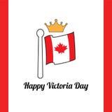 Ευτυχής ημέρα Βικτώριας Καναδάς Στοκ φωτογραφία με δικαίωμα ελεύθερης χρήσης