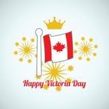 Ευτυχής ημέρα Βικτώριας Καναδάς Στοκ εικόνα με δικαίωμα ελεύθερης χρήσης