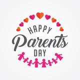 Ευτυχής ημέρα γονέων Στοκ εικόνα με δικαίωμα ελεύθερης χρήσης