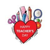 Ευτυχής ημέρα δασκάλων διανυσματική απεικόνιση