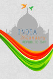 Ευτυχής ημέρα Δημοκρατίας της Ινδίας Στοκ εικόνες με δικαίωμα ελεύθερης χρήσης
