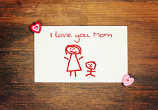 Ευτυχής ημέρα μητέρων ευχετήριων καρτών Στοκ Φωτογραφία