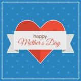 Ευτυχής ημέρα μητέρων! κάρτα Στοκ Εικόνες