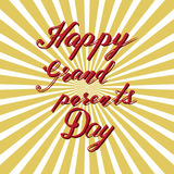 Ευτυχής ημέρα παππούδων και γιαγιάδων, συρμένη χέρι εγγραφή, διάνυσμα Στοκ εικόνα με δικαίωμα ελεύθερης χρήσης