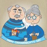 Ευτυχής ημέρα παππούδων και γιαγιάδων Στοκ φωτογραφία με δικαίωμα ελεύθερης χρήσης