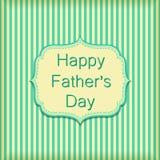 Ευτυχής ημέρα πατέρων στον τοίχο ταπετσαριών λωρίδων Διανυσματικό κείμενο σε πράσινο Στοκ φωτογραφίες με δικαίωμα ελεύθερης χρήσης