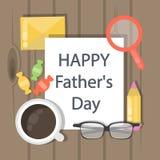 Ευτυχής ημέρα πατέρων ` s ελεύθερη απεικόνιση δικαιώματος