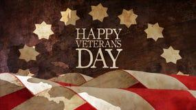 Ευτυχής ημέρα παλαιμάχων αμερικανικός διανυσματικός Ιστός απεικόνισης σημαιών Στοκ φωτογραφίες με δικαίωμα ελεύθερης χρήσης