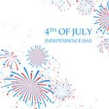 Ευτυχής ημέρα της ανεξαρτησίας της Αμερικής Στοκ φωτογραφίες με δικαίωμα ελεύθερης χρήσης