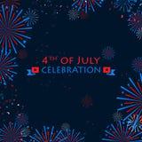 Ευτυχής ημέρα της ανεξαρτησίας της Αμερικής Στοκ Φωτογραφία