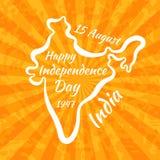 Ευτυχής ημέρα της ανεξαρτησίας στην Ινδία Στοκ εικόνες με δικαίωμα ελεύθερης χρήσης