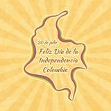 Ευτυχής ημέρα της ανεξαρτησίας στην Κολομβία Στοκ φωτογραφία με δικαίωμα ελεύθερης χρήσης