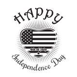 Ευτυχής ημέρα της ανεξαρτησίας της Αμερικής Στοκ εικόνες με δικαίωμα ελεύθερης χρήσης