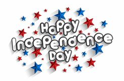 Ευτυχής ημέρα της ανεξαρτησίας διανυσματική απεικόνιση