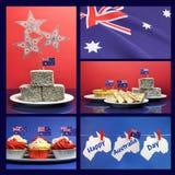 Ευτυχής ημέρα της Αυστραλίας, στις 26 Ιανουαρίου, κολάζ Στοκ Εικόνες