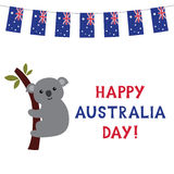 Ευτυχής ημέρα της Αυστραλίας Στοκ εικόνα με δικαίωμα ελεύθερης χρήσης